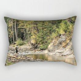Montana Fly Fishing Rectangular Pillow