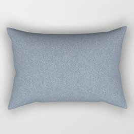 Dense Melange - White and Oxford Blue Rectangular Pillow