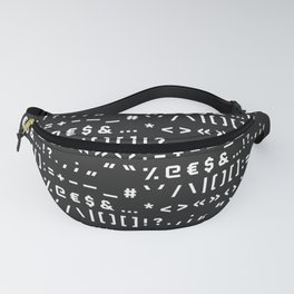 Typography Special Characters Pattern #2 Fanny Pack