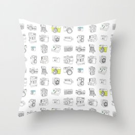 My Camera Collection Throw Pillow