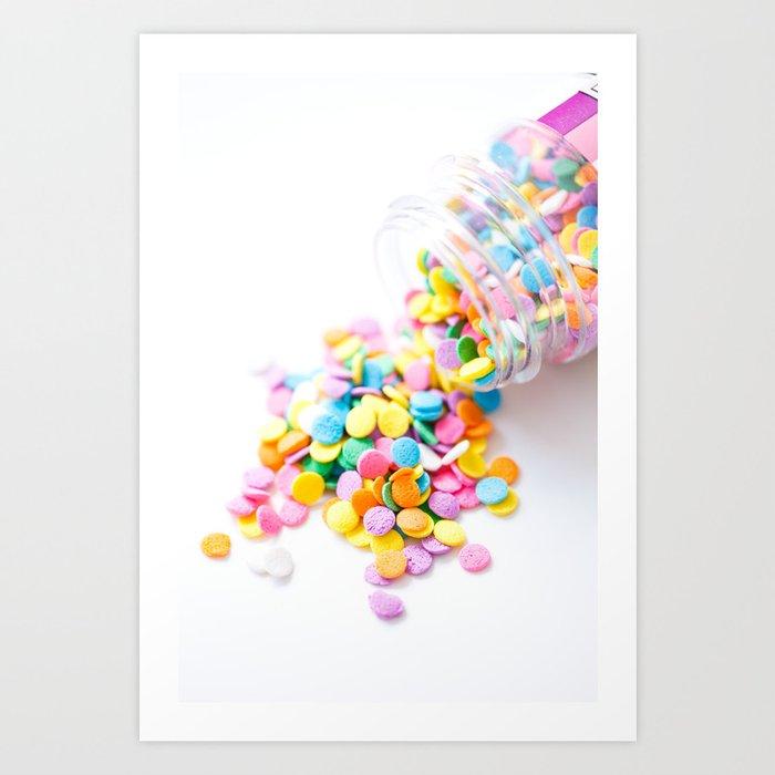 Confetti Sprinkles Art Print