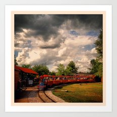 Zoo Train Art Print