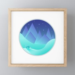 Night Fox Framed Mini Art Print