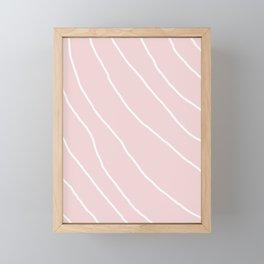 White Lines II Framed Mini Art Print