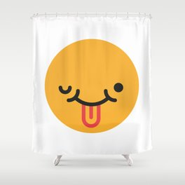 Emojis: Crazy face Shower Curtain