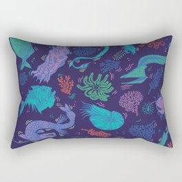 Creatures Of the Deep Sea Rectangular Pillow