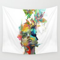 typography Wall Tapestries featuring Dream Theory by Archan Nair