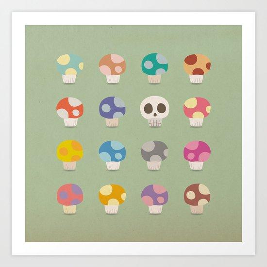 How to Tell Poison Mushrooms Art Print