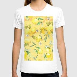 Watercolor lemons 5 T-shirt