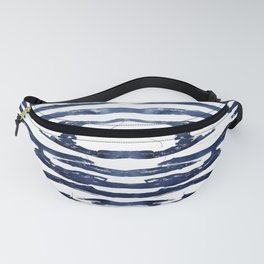 Abstract Waves in Blue Fanny Pack