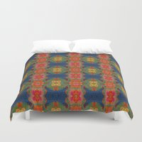 wild things Duvet Covers featuring Where Wild Things Grow by lisa weedn