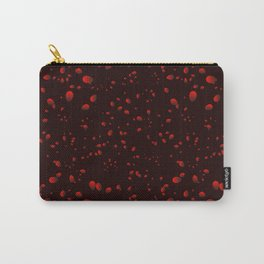 Sea iridescent drops and petals on a black background in nacre. Carry-All Pouch