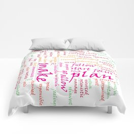 action words in colour Comforters
