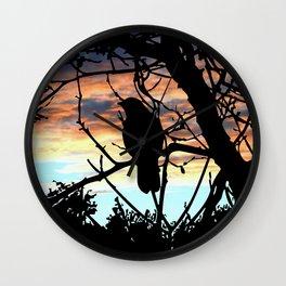 SUNSET BIRD Wall Clock