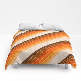 Tan Candy Stripe Comforters