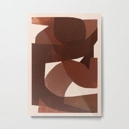 Simply Brown Metal Print