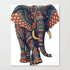 Ornate Elephant v2 (Color Version) Canvas Print