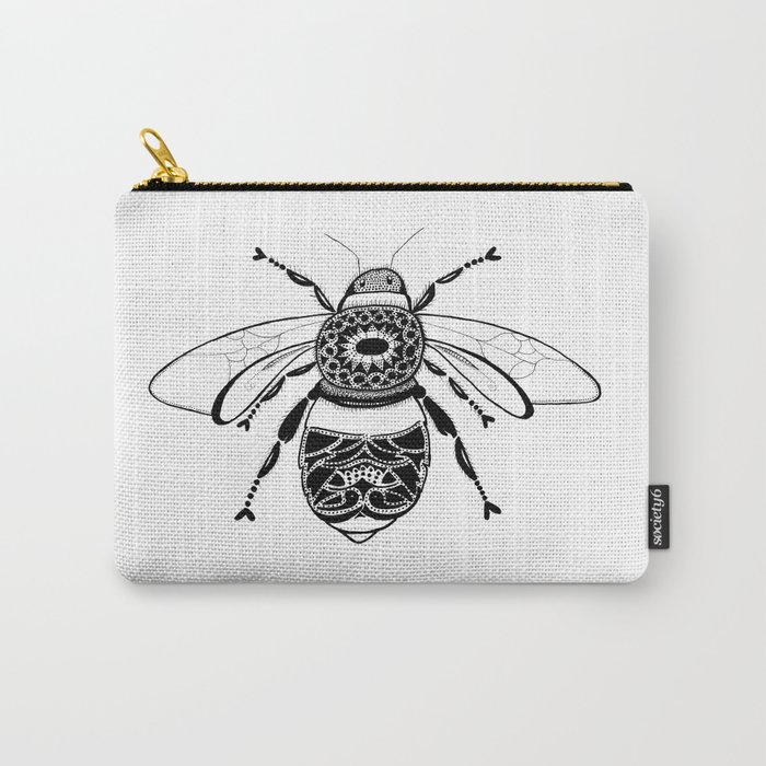 Bee in Ink Carry-All Pouch