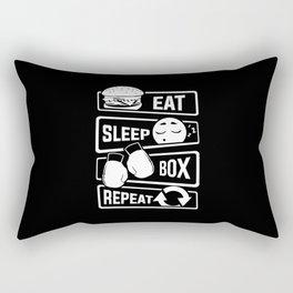 Eat Sleep Box Repeat - Boxing Boxer Uppercut Jab Rectangular Pillow
