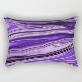 Purple Waves Abstract Art, Digital Fluid Art Ripples Blend Rectangular Pillow