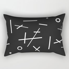 Abstracted Noughts and Crosses Rectangular Pillow