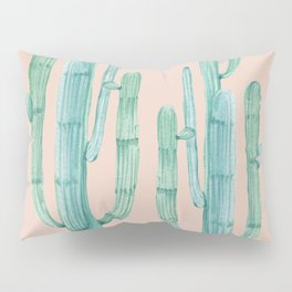Besties Cactus Friends Turquoise + Coral Pillow Sham
