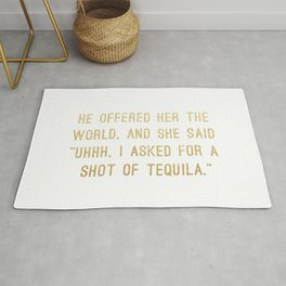 Shot of Tequila Rug