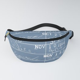 Library Card 23322 Negative Blue Fanny Pack