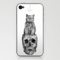 The Cat, The Skull, The Cross iPhone & iPod Skin