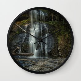 Upper North Falls, Late Summer, Vertical Wall Clock