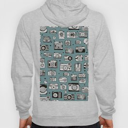Smile action toy camera vintage photography pattern Hoody