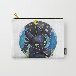 Baby Toothless Night Fury Dragon  Watercolor white bg Carry-All Pouch