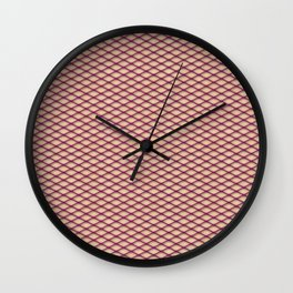 Purple Fishnet Texture on Pale Skin Wall Clock