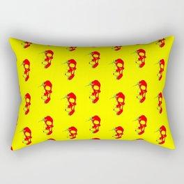 Skull - Red Rectangular Pillow
