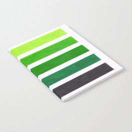 Colorful Green Stripes Notebook