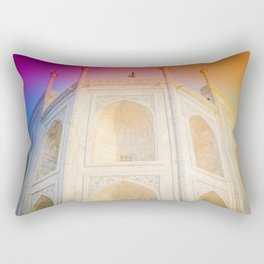 Morning Light at Taj Mahal Rectangular Pillow