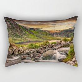 Tryfan and Llyn Ogwen Snowdonia Rectangular Pillow
