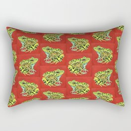 Spotted Frog Friend Pattern Rectangular Pillow