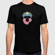 Officer Donut Black LARGE Mens Fitted Tee