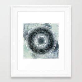 WINTER LEAVES MANDALA Framed Art Print