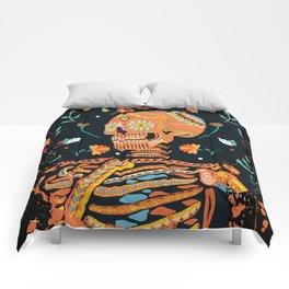 Day of the Dead Skeleton – Dia de los muertos – sugar skull – cool design Comforters