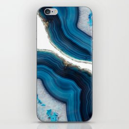 Blue Agate iPhone Skin