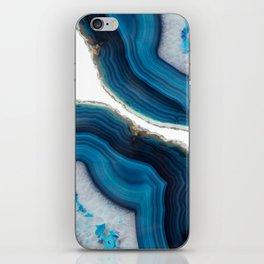 Blue Agate iPhone Skin