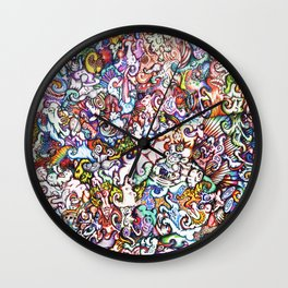 """""""Silliness"""" by RenPenCreations Wall Clock"""