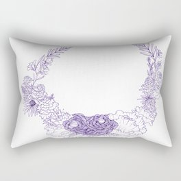 purple posy Rectangular Pillow