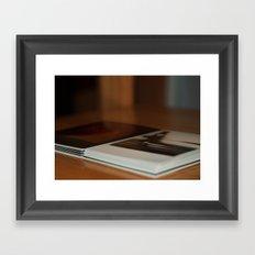 Stack of Polaroids Framed Art Print