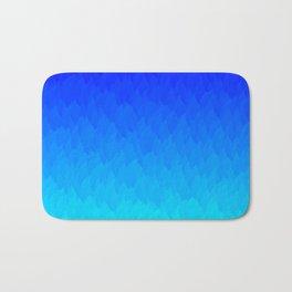 Electric Blue Ombre flames / Light Blue to Dark Blue Bath Mat