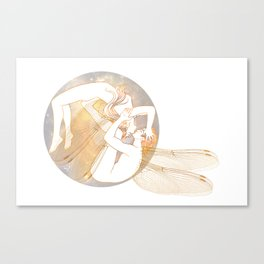 Dragonflies dancers Canvas Print