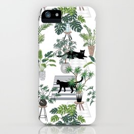 cats in the interior pattern iPhone Case