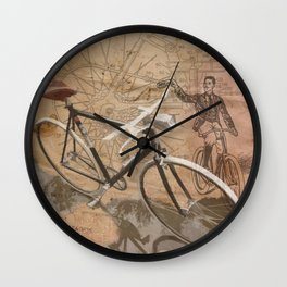 vintage bicycle hipster Wall Clock